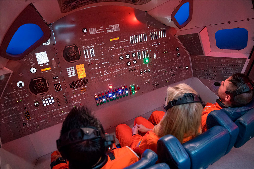 inside space ship